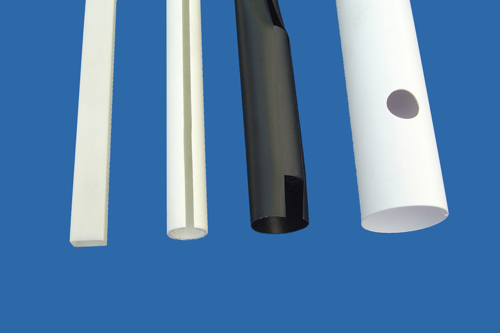 Split plastic tube, perforated plastic tube