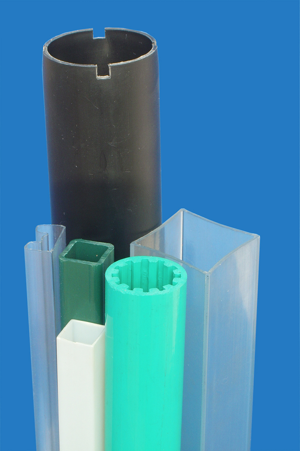 Profiled plastic tube